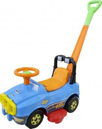 Каталка-машинка Molto Джип-каталка с ручкой №2 пластик от 1 года на колесах голубой каталка на палочке полесье утёнок пластик от 1 года с ручкой желтый 7925