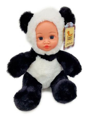 Мягкая игрушка панда Fluffy Family Крошка панда 30 см белый черный бежевый текстиль искусственный ме панда 30 см 4473