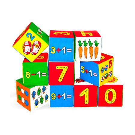 Кубики МЯКИШИ Умная математика 177 кубики мякиши животные 2 236