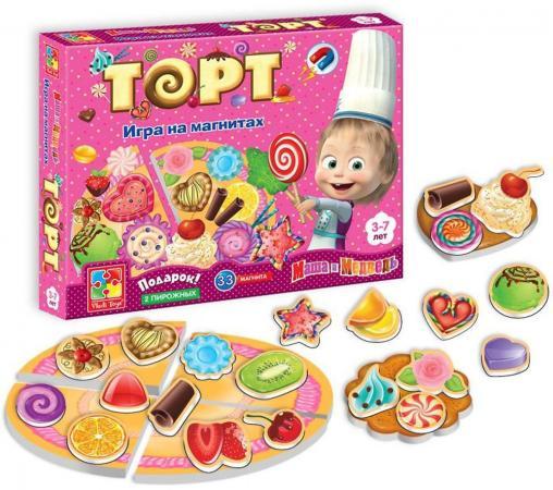 Фото - Магнитная игра развивающая Vladi toys «Маша и Медведь» Торт VT3003-01 магнитная игра одевашка vladi toys соня