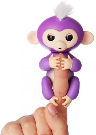 Интерактивная мягкая игрушка обезьянка МИА (фиолетовая), 12см 3704A chericole интерактивная мягкая игрушка обезьянка цвет фиолетовый
