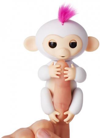 Интерактивная мягкая игрушка обезьянка СОФИЯ (белая), 12см 3702A chericole интерактивная мягкая игрушка обезьянка цвет фиолетовый
