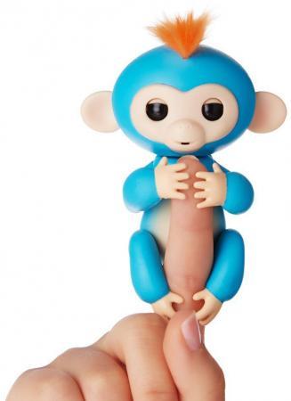 Интерактивная мягкая игрушка обезьянка БОРИС (синяя), 12см 3703A chericole интерактивная мягкая игрушка обезьянка цвет фиолетовый