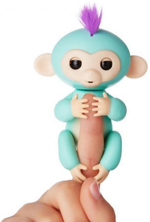 Интерактивная мягкая игрушка обезьянка ЗОЯ (зеленая), 12см 3706A chericole интерактивная мягкая игрушка обезьянка цвет фиолетовый