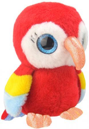 Мягкая игрушка попугай Wild Planet Попугайчик 19 см красный искусственный мех текстиль пластик K81 мягкая игрушка собака orange чихуа kiki малиновый блеск текстиль искусственный мех розовый коричневый 25 см ld010