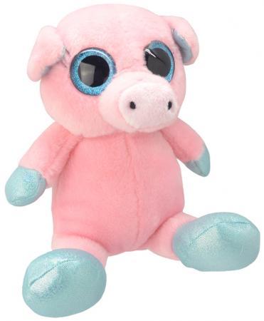 Мягкая игрушка Wild Planet Свинка 18 см розовый искусственный мех K7864