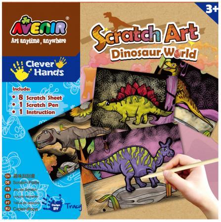 Купить Набор Avenir для гравировки Мир Динозавров , 8 листов CH1255, Игрушки