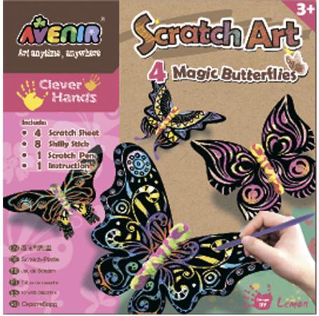 Купить Набор Avenir для гравировки Волшебные бабочки , 4 бабочки, декор CH1318, Игрушки