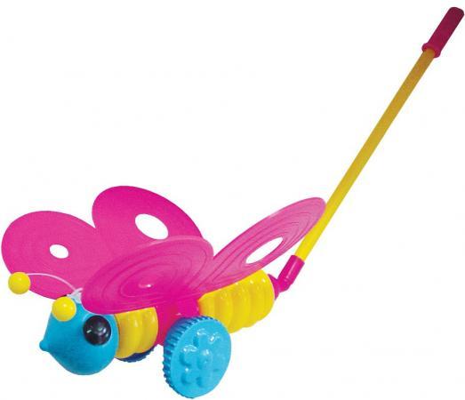 Каталка на палочке Плэйдорадо Бабочка пластик от 1 года с ручкой разноцветный 12001 каталка на палочке полесье утёнок пластик от 1 года с ручкой желтый 7925