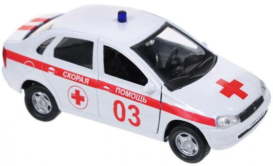 Скорая помощь Autotime Лада Калина 14.5 см бело-красный Р40517 autotime квадроцикл sport полиция