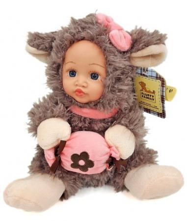 Мягкая игрушка ягненок Fluffy Family Мой ягненок разноцветный искусственный мех пластик 681235