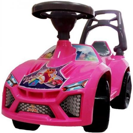 Каталка-машинка Orion Ламбо - Принцесса пластик от 3 лет на колесах розовый звук ОР021М каталка на шнурке наша игрушка машина каталка авторалли пластик от 3 лет на колесах розовый q09 1 pink