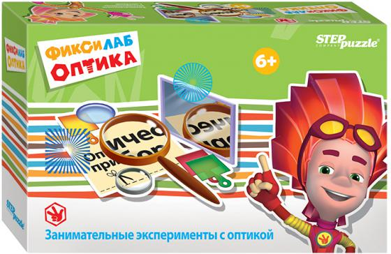 Развивающая игра Step Puzzle Фиксилаб Оптика 19 предметов игра step puzzle 55 лучших игр мира