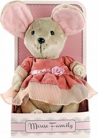 Мягкая игрушка мышка Fluffy Family Lady mouse Лакомка 25 см текстиль 681201 мягкие игрушки fluffy family мягкая игрушка щенок тилли
