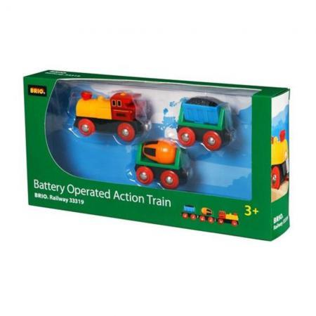 Поезд Brio Грузовой с бетономешалкой и грузом угля brio лошадка с попоной и всадник 33793