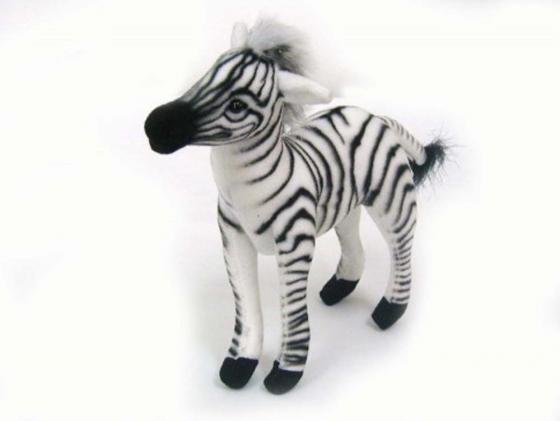 Мягкая игрушка зебра Hansa 3743 15 см искусственный мех мягкая игрушка собака hansa йоркширский терьер искусственный мех коричневый 36 см 5909