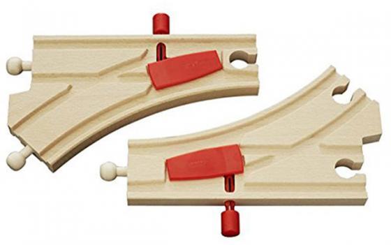 Железная дорога Brio полотно с переключателем направления железные дороги brio железная дорога с автодорогой и переездом
