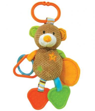 Развивающая игрушка Жирафики Подвеска с зеркальцем прорезывателями и погремушками