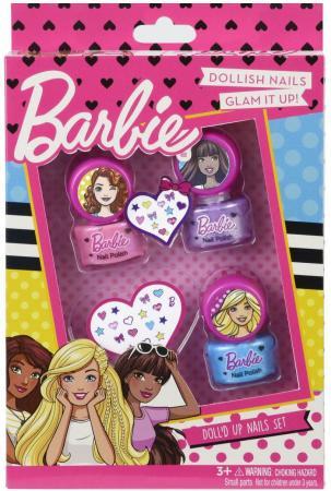 Игровой набор детской декоративной косметики Markwins Барби, для ногтей 5 предметов 9708351 комплекты детской одежды клякса комплект 5 предметов 53 5228