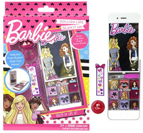 Игровой набор детской декоративной косметики Markwins Barbie для губ 9708451