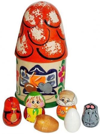 Купить Пальчиковый театр в домике Русские народные игрушки Курочка ряба Р-45/776, Игрушки