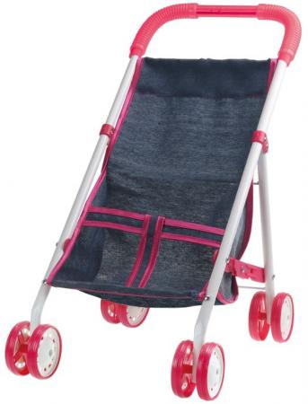 1toy коляска прогулочная для куклы Красотка-Джинс,метал.рама,собр.40*25*43см,пакет 67*32*8см цена