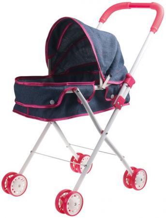 1toy коляска-люлька для куклы Красотка-Джинс,метал.рама,собр.62*27*67см,пакет 66*36*12см цена
