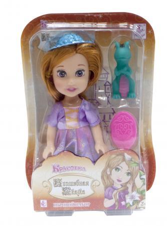 1toy Красотка кукла Волшебная Сказка15 см с ПВХ дракончиком 5см,шляпкой, расческой,13х19х5,5см 8887856101684 кукла красотка день рождения брюн с зонтом расческой заколками 21 5х8 5х36 см 8887856102827