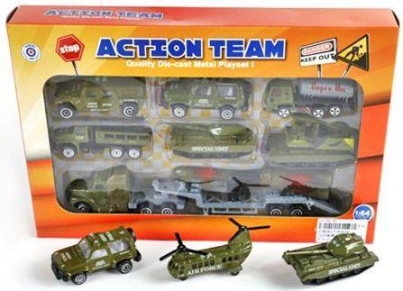 Набор Наша Игрушка Военная техника 7 шт хаки 8964B игрушка mehano 1 f101 набор рельс