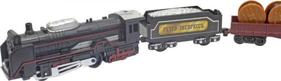 1toy ж/д Ретро Экспресс, свет,паровоз, 3 вагона, 18 деталей, длина путей 104х68 см 1toy ж д ретро экспресс свет звук дым паровоз 3 вагона пульт д у 27 деталей длина путей 78