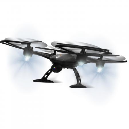 1toy GYRO-Predator квадрокоптер 2,4GHz с Wi-Fi камерой 480p, летает 15 минут, 17х17см, доп.лопасти квадрокоптер 1toy gyro explorer т58988