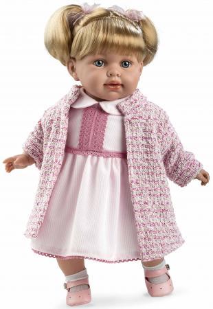 Arias ELEGANCE мягк кукла 42 см., в одежде роз., с соской, со звук. эфф. смех (3хLR44/AG13), в кор. arias кукла arias 28 см в розовом платье и шапочке с соской