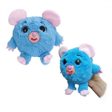 1toy Дразнюка-Zoo плюш.голуб.мышка,показ.язык,13см,пакет цена