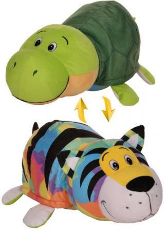 Купить 1toy плюш.Вывернушка 40 см 2в1 Радужный тигр-Черепаха, пакет, Игрушки