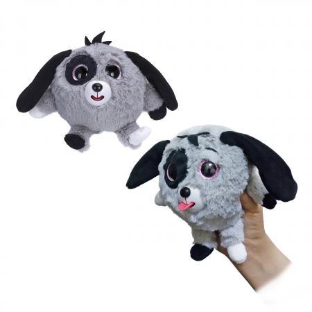 1toy Дразнюка-Zoo плюш.сер.собачка,показ.язык,13см,пакет цена