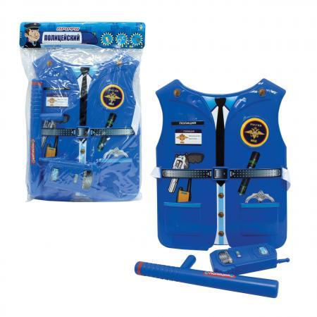 Набор 1toy костюм Профи с жилетом- Полицейский 39х28х4 см., 2 предмета, размер жилета 26х32*0,5 см. набор костюм с жилетом военный т10489