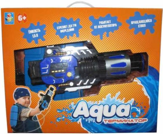 1Toy Аквамания, вод.автомат, работает от аккумулятора, 40х25 см, коробка водяная бомбочка 1toy аквамания водяные бомбочки цвет в ассортименте т11594