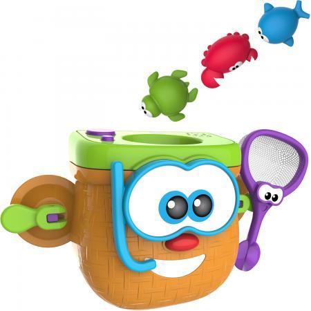 Купить 1toy Kidz Delight Игрушка для ванны Корзинка рыбака, 34*12*28см., кор., Игрушки