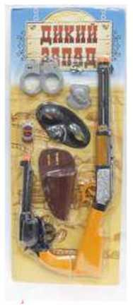 1toy Дикий Запад, набор: револьвер, ружьё, патроны, наручники, аксессуары