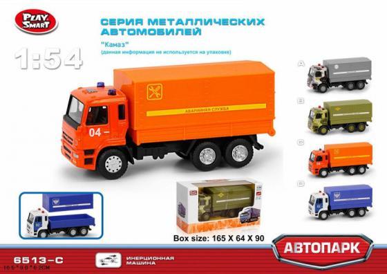 Play Smart 1:54 инерционный металлический грузовик Авар служба , 17x9x6,5см