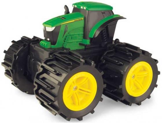 Tomy John Deere Трактор Mega Monster Wheels с бол.поворот.колесами,с подсветкой и звуком,22х28х25см, трактор tomy john deere зеленый 19 см с большими колесами звук свет