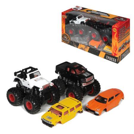 YAKO, Набор инерционных машинок, M6545-1 игрушка врумиз набор инерционных машинок спиди софи слон пожарный