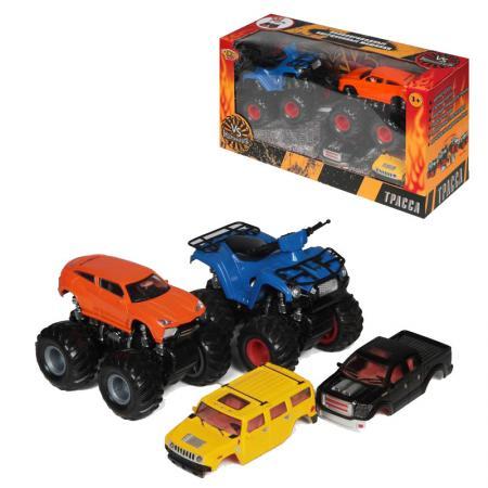 YAKO, Набор инерционных машинок, M6545-2 игрушка врумиз набор инерционных машинок спиди софи слон пожарный