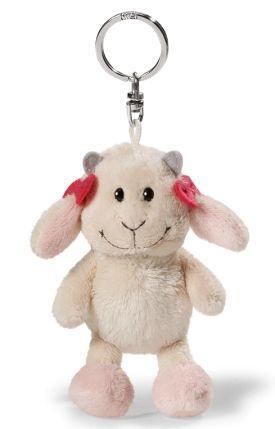 Брелок коза NICI Козочка Гретель 10 см белый плюш текстиль 37606 мягкие игрушки nici пеликан сидячий 50 см