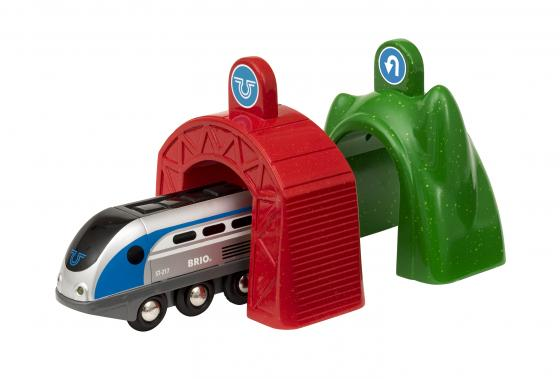 BRIO Smart Tech Набор электропоезд и туннели (поезд и 2 туннеля), батарейки не включены (2АА), разме цена 2017