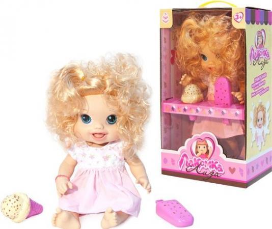 1toy кукла с мороженым (2шт.)Лакомка Лиза 36см,кудрявая блондинка,кор.