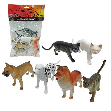 1toy В мире животных наб.игр.собак и кошек 6 шт х 15 см. в упаковке ПВХ с хедером 1toy в мире животных наб игр животных 6 шт х 15 см в упаковке пвх с хедером