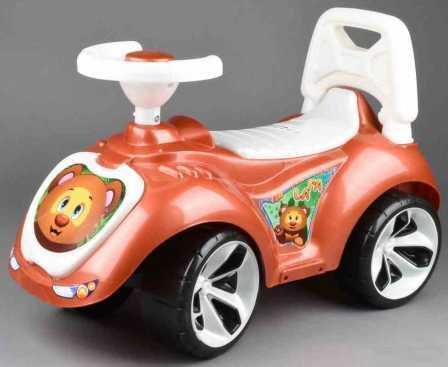 Купить ОР758 Каталка машинка Мишка (LAPA) цвет бронзовый, RT, Игрушки