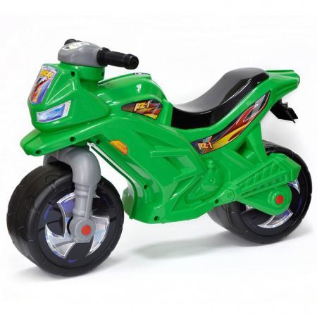 ОР501в6 Каталка-мотоцикл беговел Racer RZ 1, цвет зеленый цена