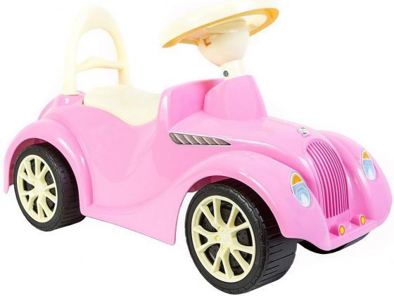 ОР900 Каталка машинка Ретро с клаксоном розовая машинка каталка dolu 4в1 розовая